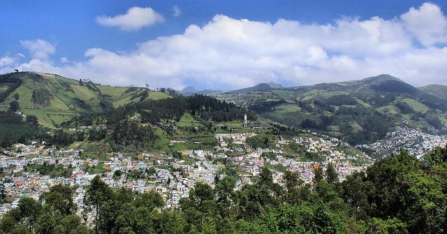 Mountain view of Quito, Ecuador