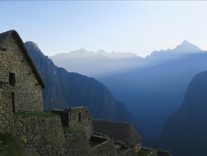 Mountains and ruins of Peru