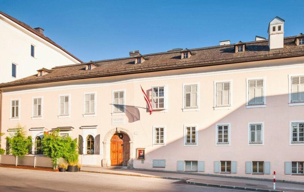 Mozart's childhood home in Salzburg, Austria.