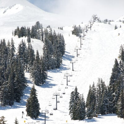 Mt. Bachelor ski resort in Oregon.
