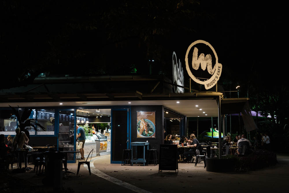 Muddy's Cafe in Cairns, Australia.