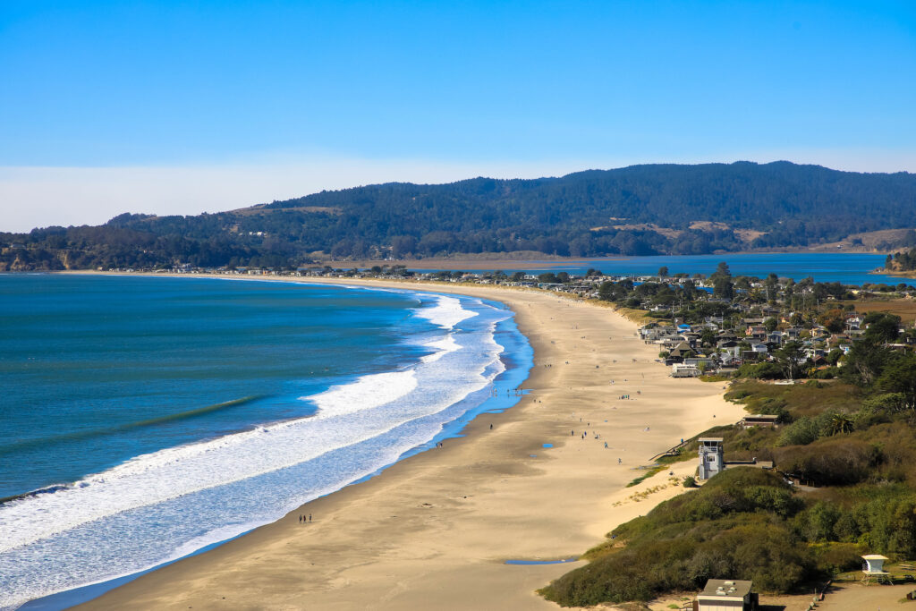 Muir Beach in California.
