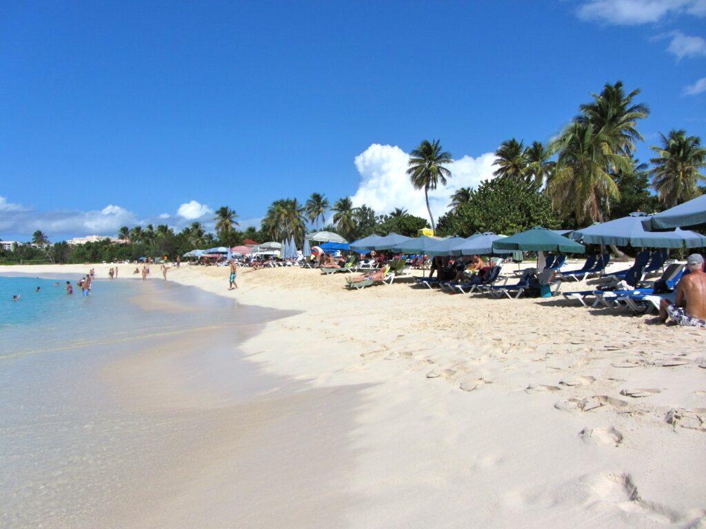 Mullet Bay Beach on the Dutch side of Saint Martin.