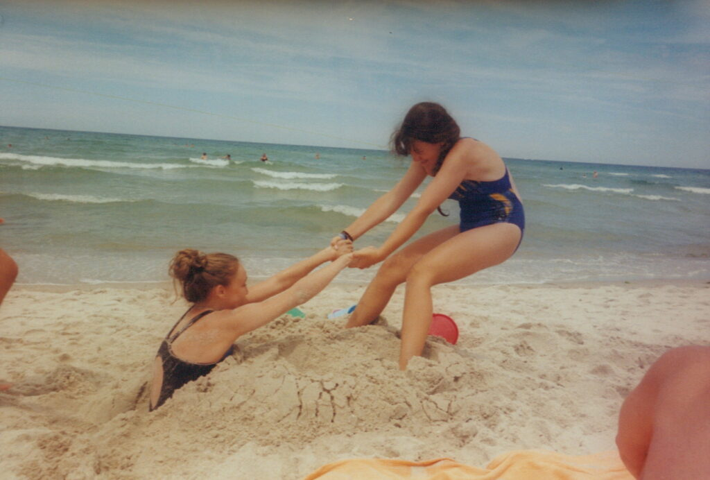 Multigenerational trip to the beach.