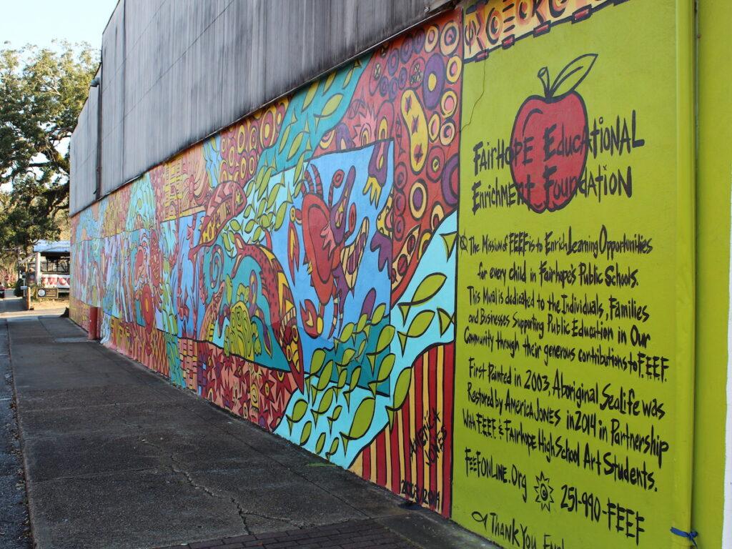 Mural along a Fairhope, Alabama, street.