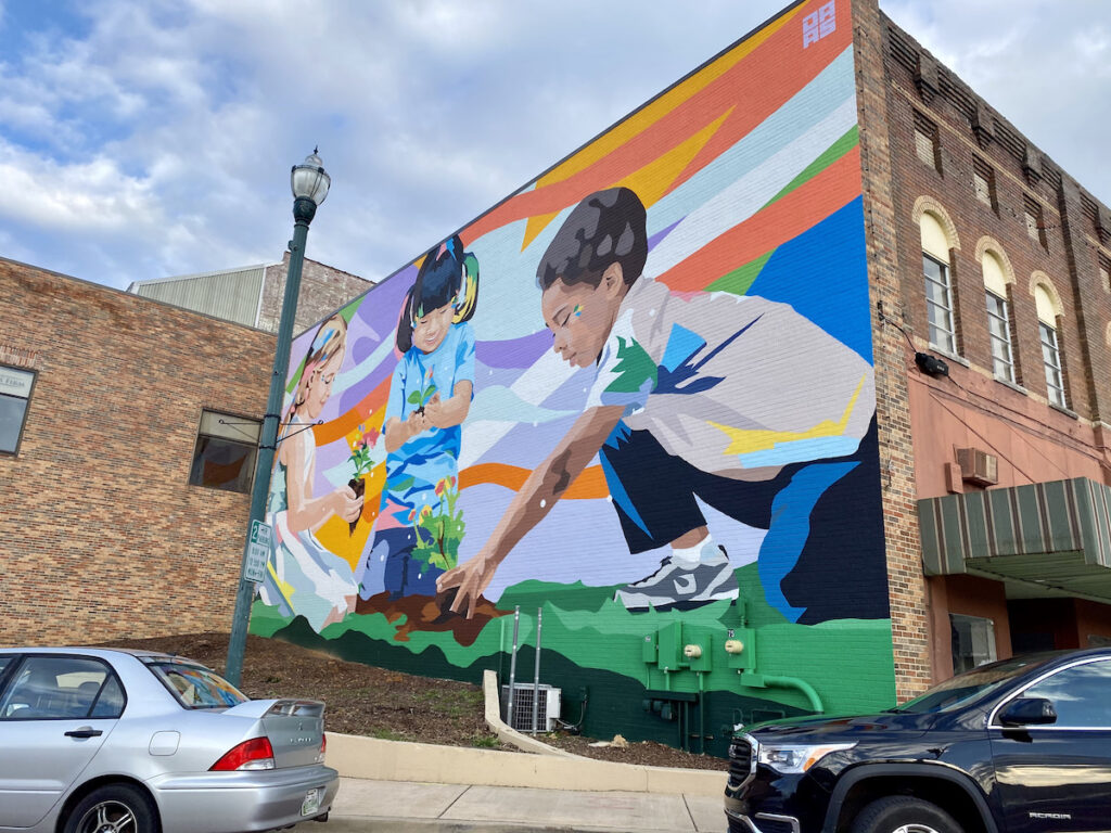 Mural in downtown Johnson City, Tennessee.