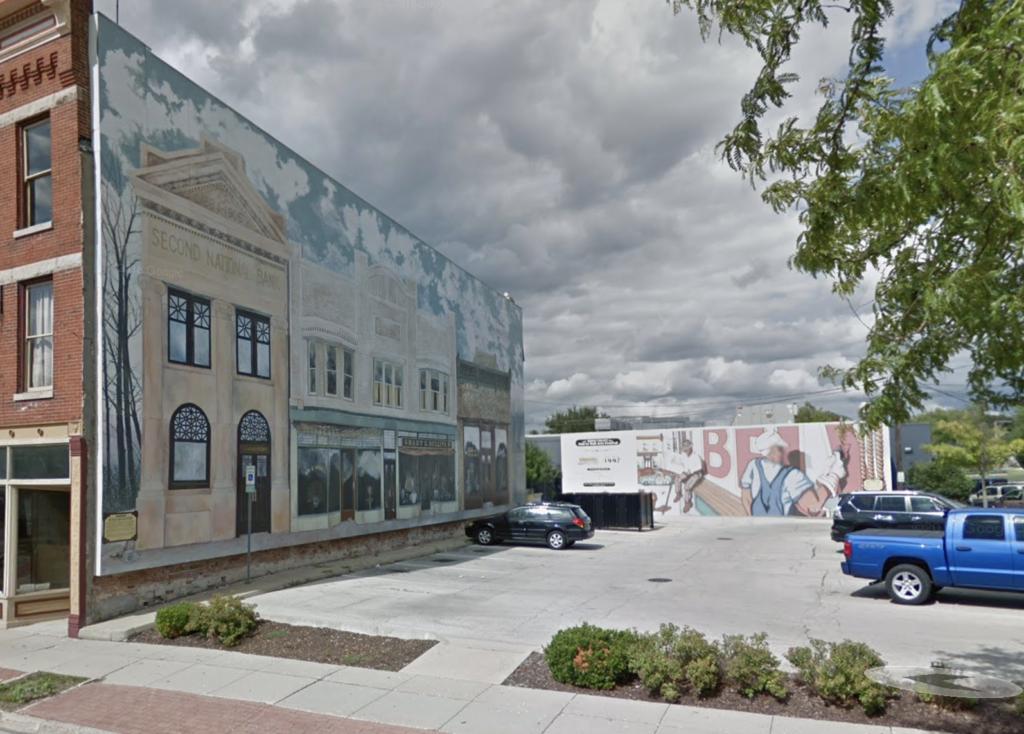 Murals in downtown Belvidere.