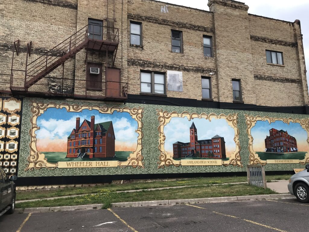 Murals in the town of Ashland, Wisconsin.