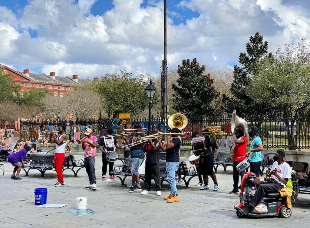 Musicians at Jackson Square.