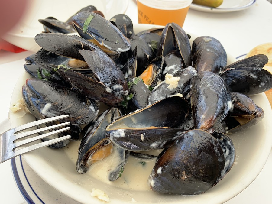 Mussels from The Black Pearl in Newport, Rhode Island.