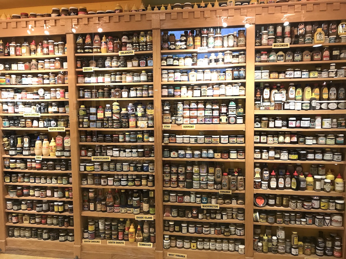 Mustards at the National Mustard Museum.