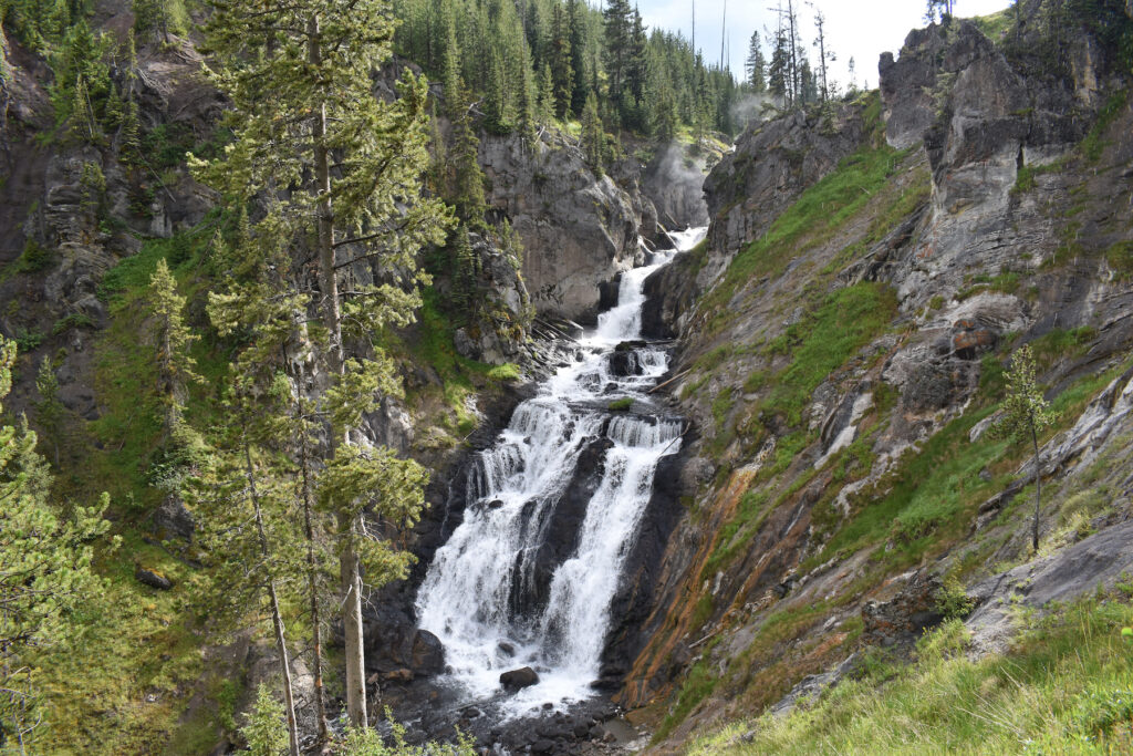 Mystic Falls in Yellowstone National Park.