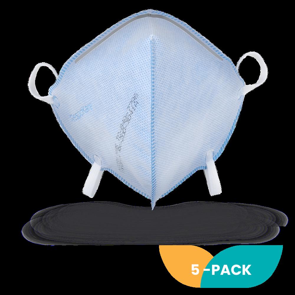 N95MaskCo Respokare® NIOSH N95 Respirator Mask 5-pack