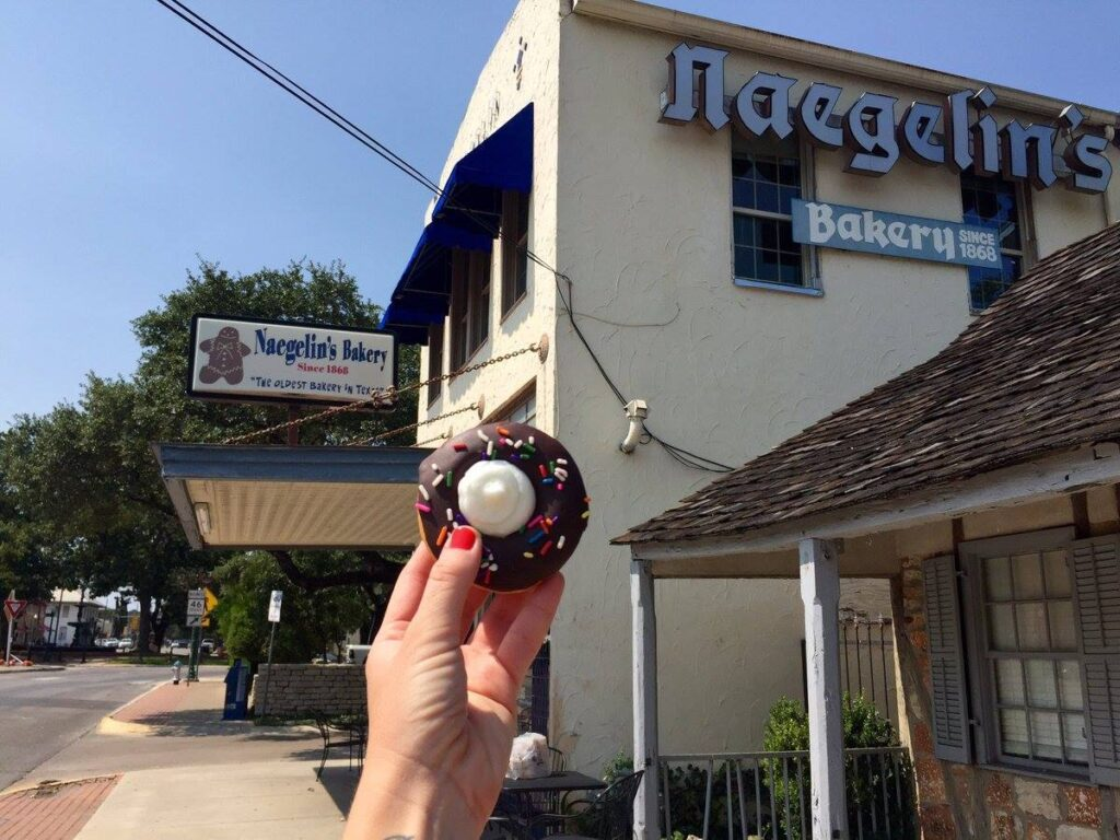 Naeglin's Bakery in New Braunfels, Texas.