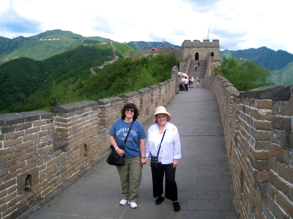Nancy and Diana on the Great Wall of China.