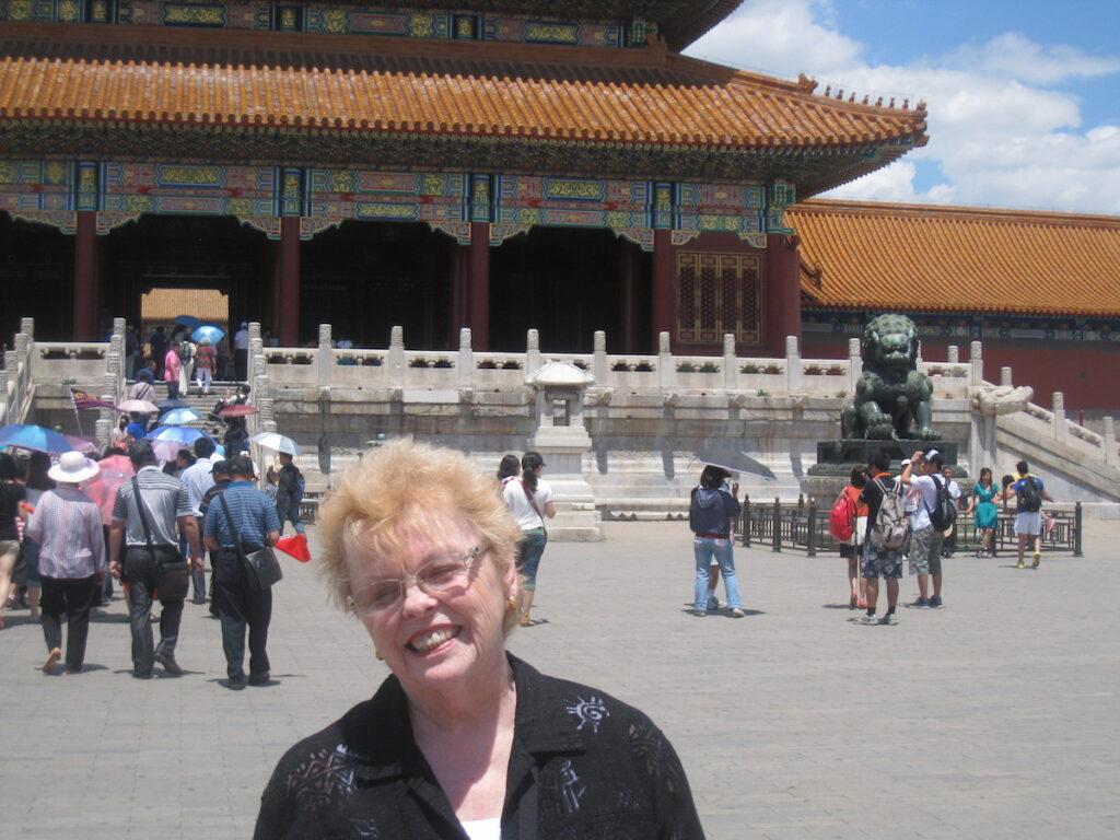 Nancy at the Forbidden City in Beijing.