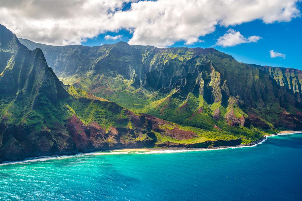 Napali Coast on Kauai, Hawaii.