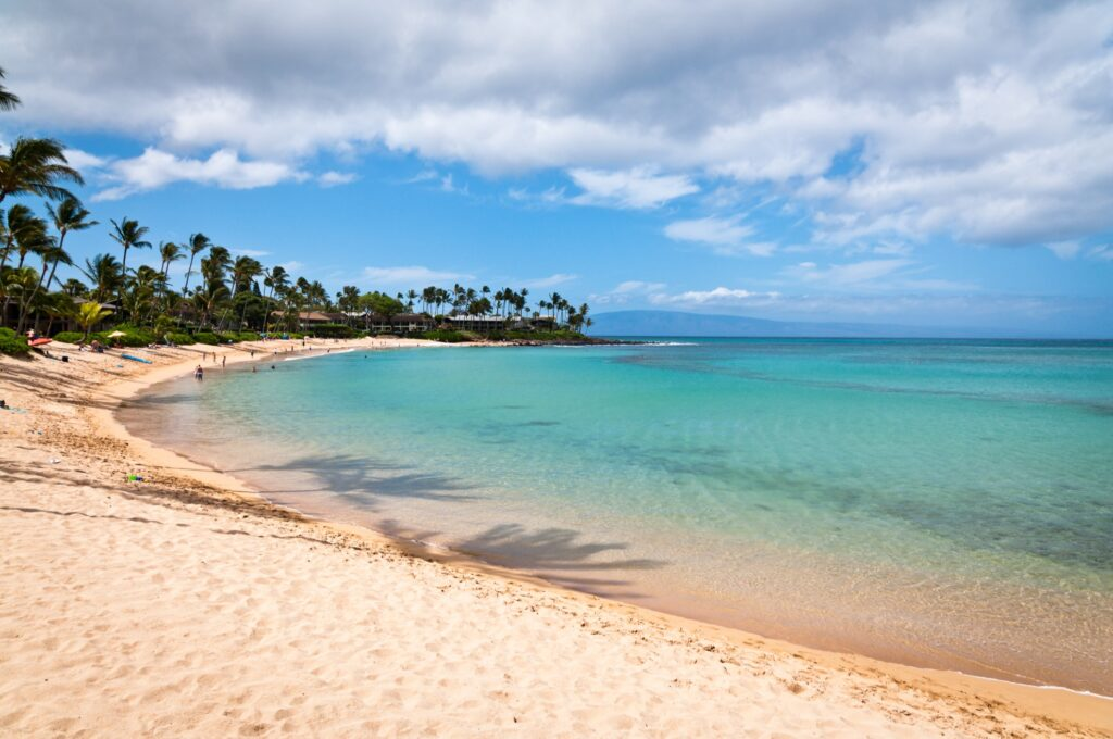 Napili Beach in Maui, Hawaii.