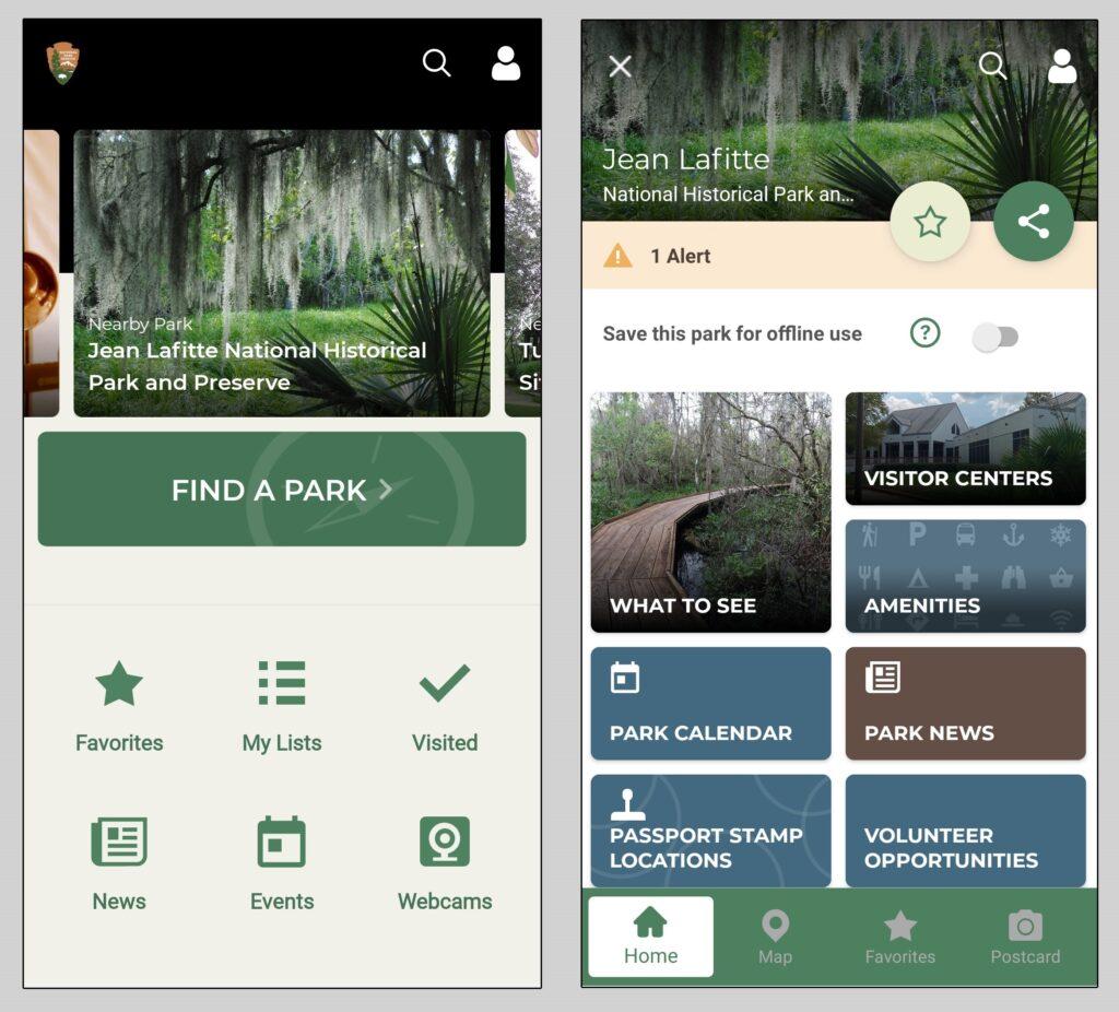 National Park Service app.