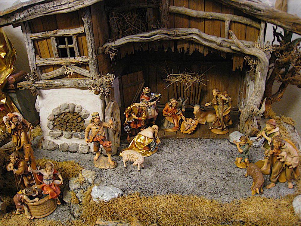 Nativity scene carvings from Oberammergau.