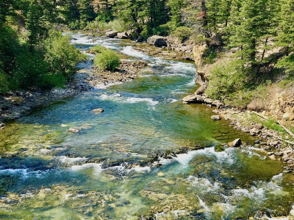 Natural Bridge Falls in Big Timber, Montana.