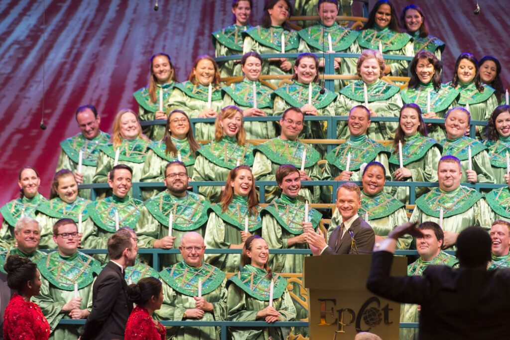 Neil Patrick Harris at the Candlelight Processional.
