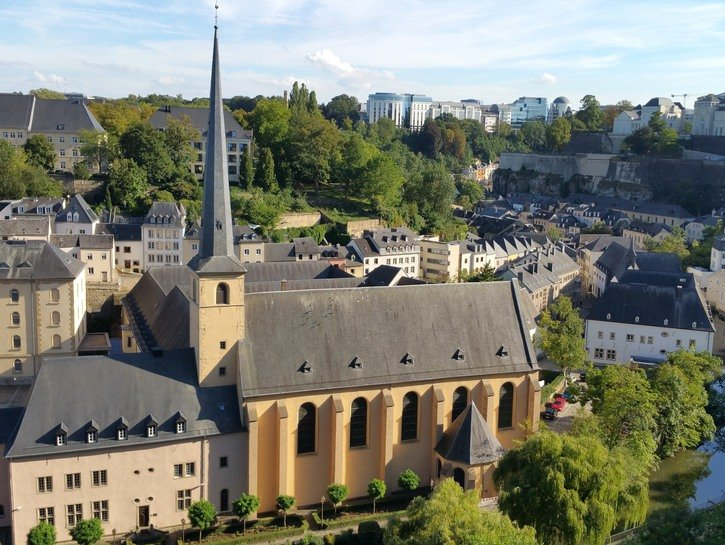 Neumunster Abbey in Luxembourg city.