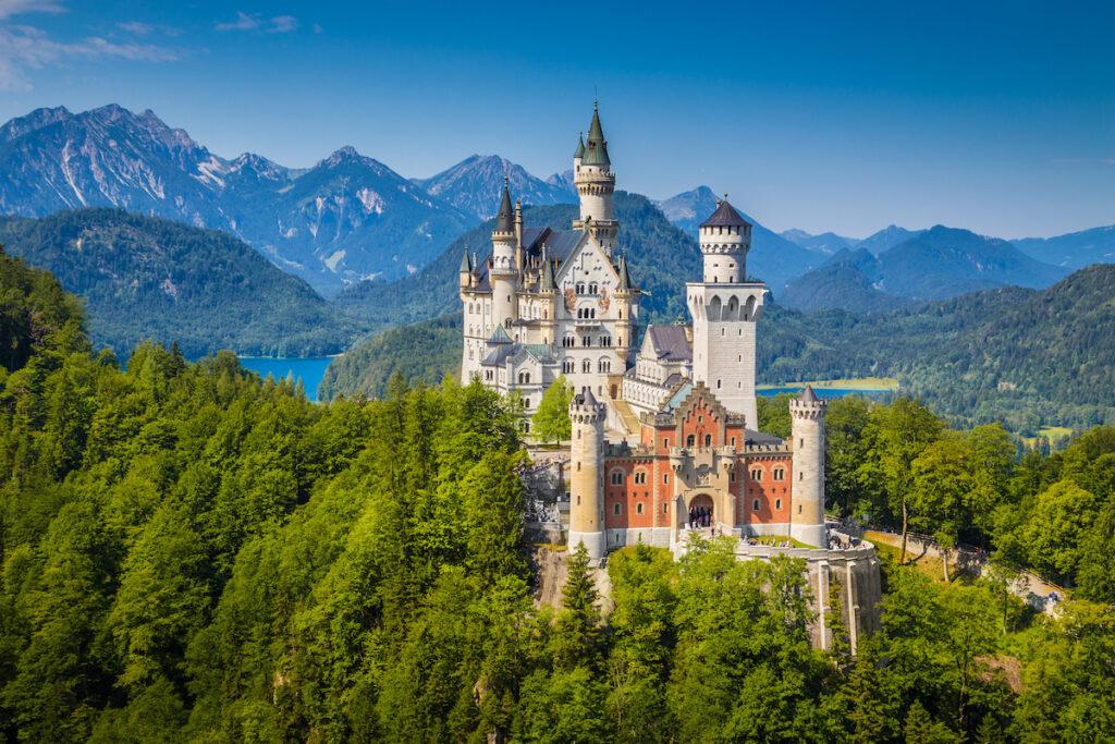 Neuschwanstein Castle in Germany.