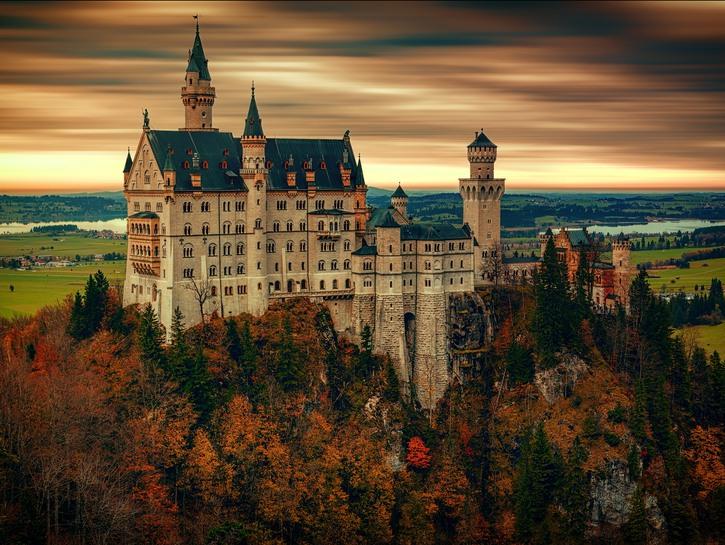 Neuschwanstein Castle in the fall.
