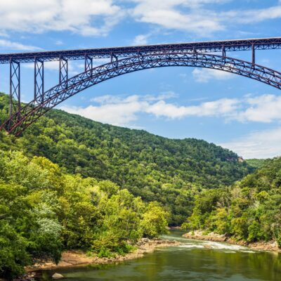 New River Gorge Bridge at what is now New River Gorge National Park.