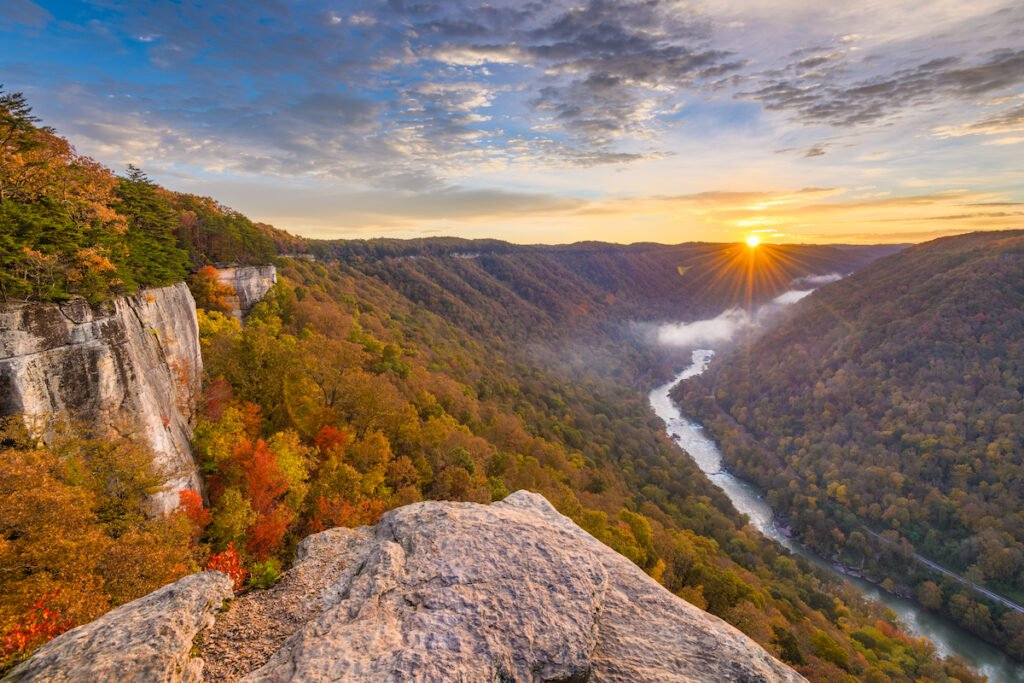 New River Gorge National Park And Preserve in West Virginia.
