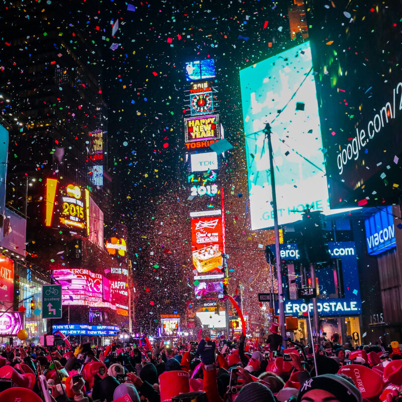 New Year's Eve in New York's Times Square.