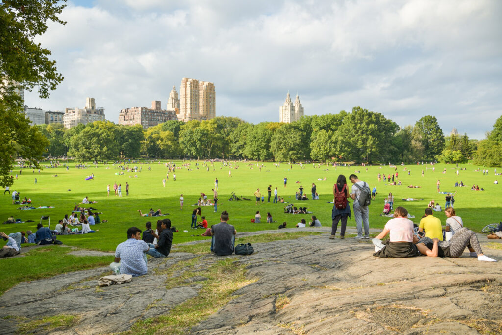 New York City's Sheep Meadow in Central Park.