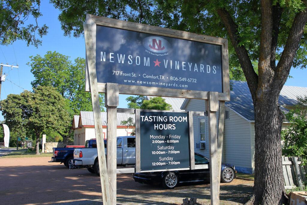 Newsom Vineyards in Comfort, Texas.