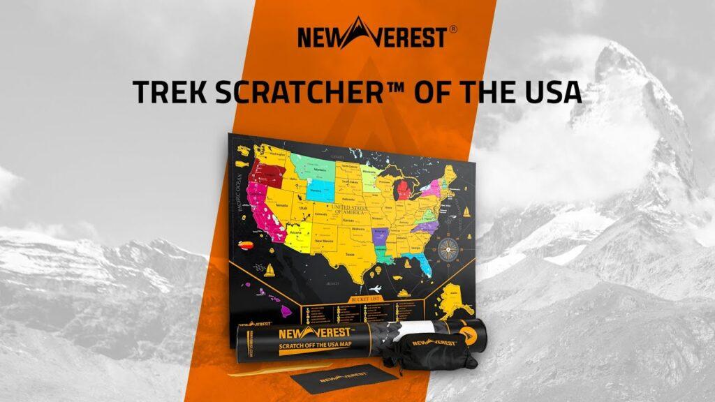 Newverest Scratch Off Map USA.