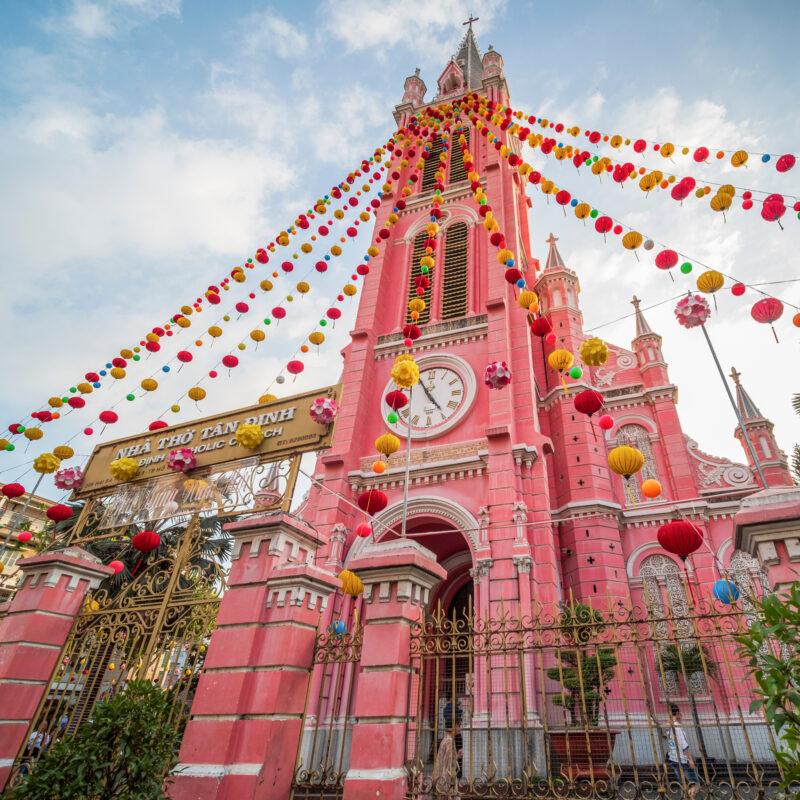 Nha Tho Tan Dinh in Ho Chi Minh City, Vietnam.