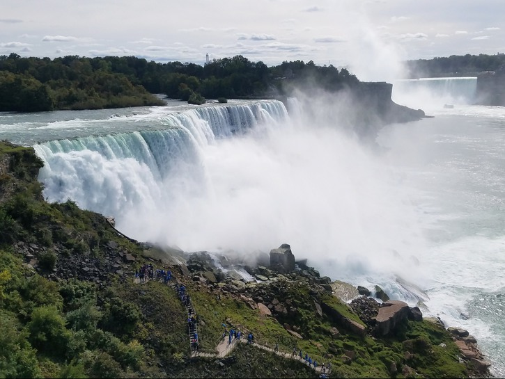 Niagara Falls seen from the American side.