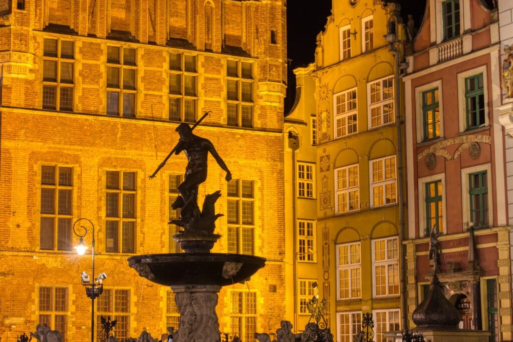Nighttime in Poland.