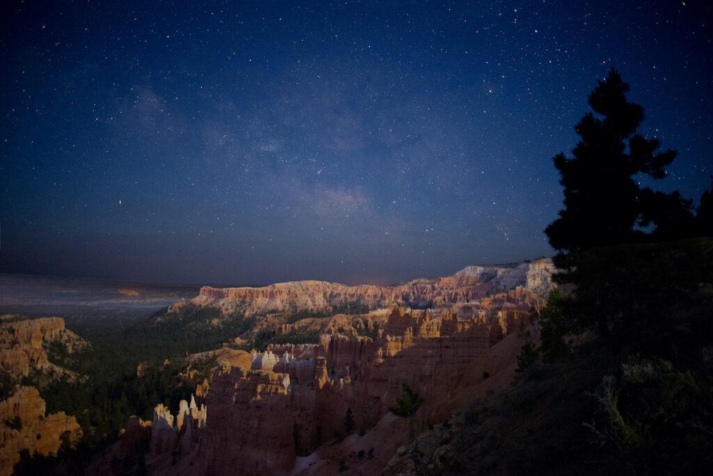 Nighttime views at Bryce Canyon.