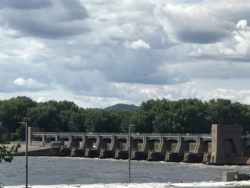 No. 8 Lock and Dam near Genoa along the Great River Road.