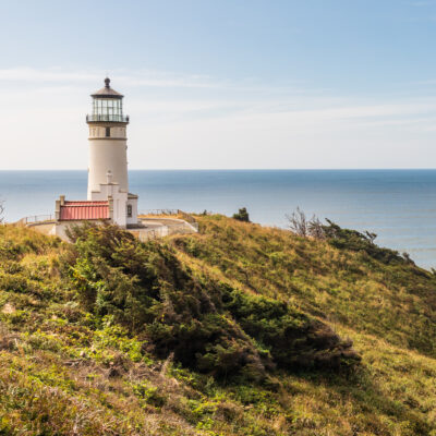 North Head Lighthouse in Cape Disappointment State Park.