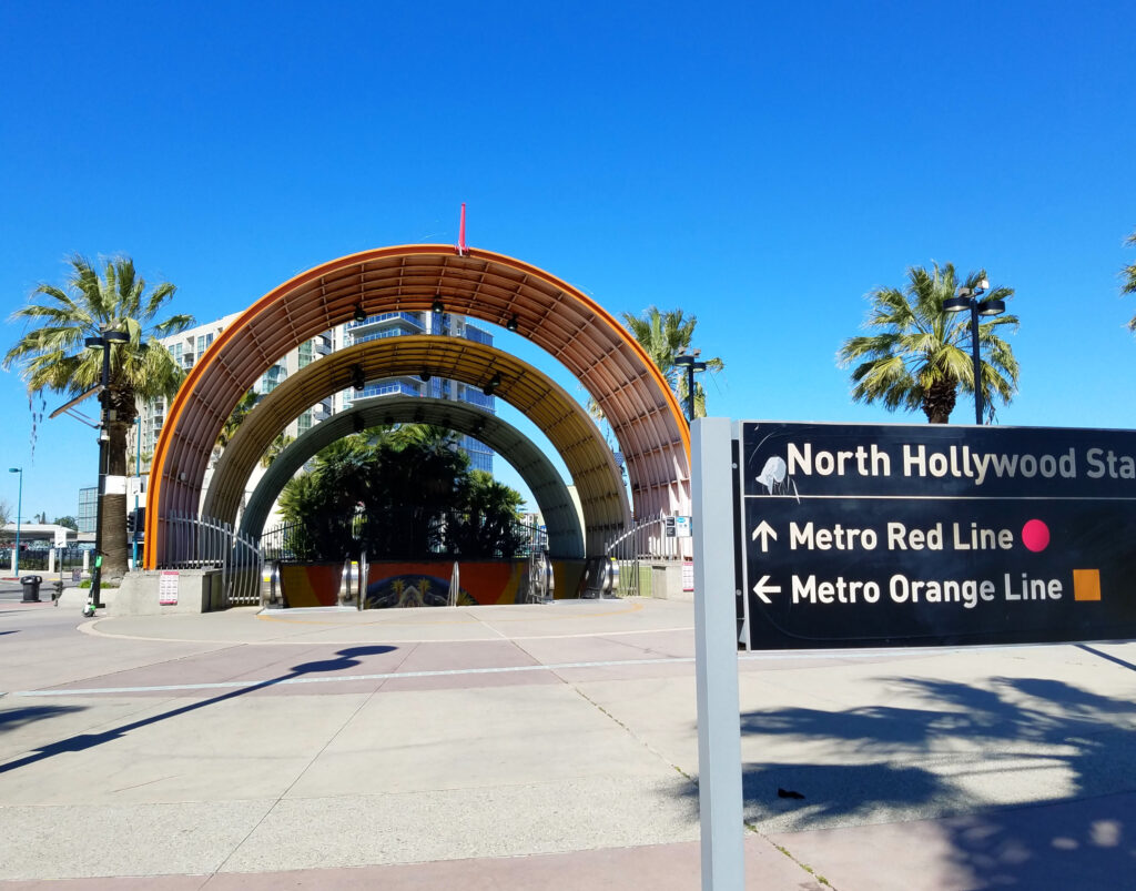 North Hollywood Los Angeles Metro Station