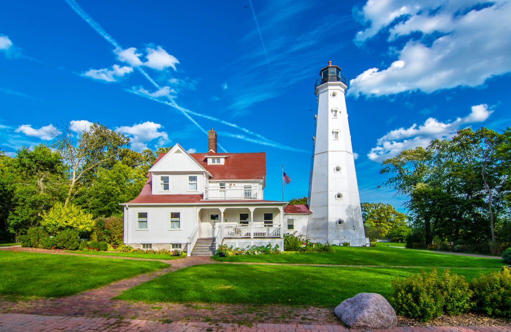 North Point Lighthouse in Milwaukee, Wisconsin.