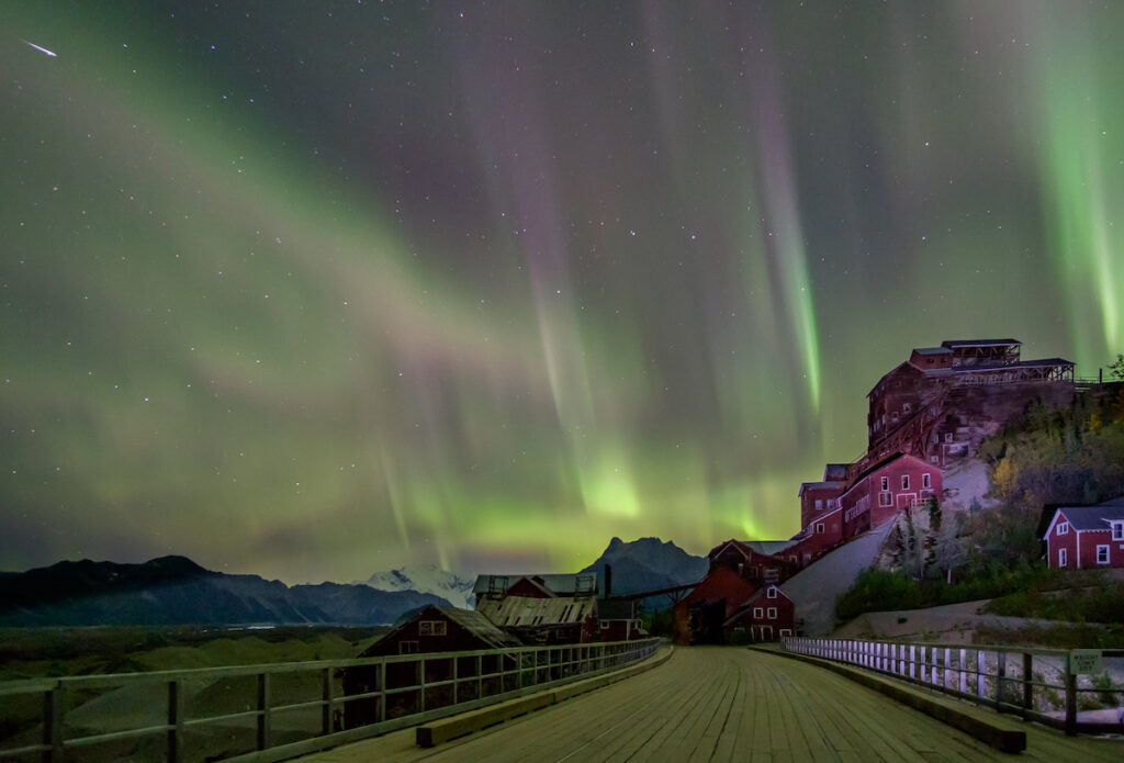 Northern Lights over Wrangell-St. Elias National Park And Preserve, Alaska.
