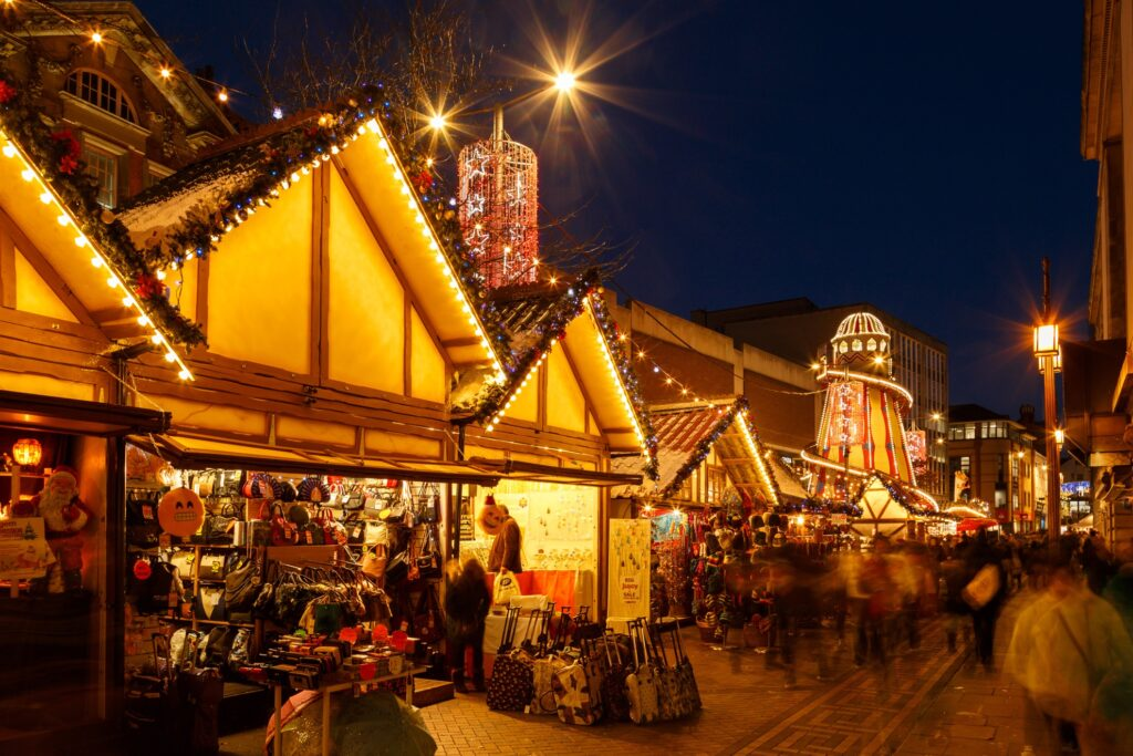Nottingham Christmas Markets in England.