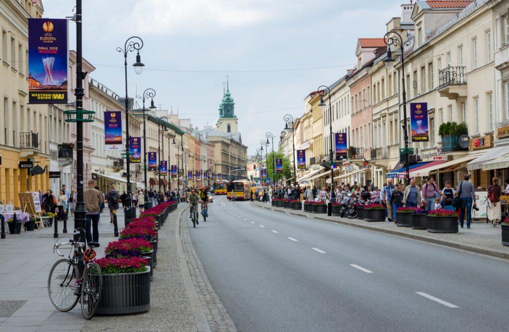 Nowy Swiat street in Warsaw.