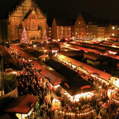Nuremberg Christkindlesmarkt in Nuremberg, Germany.