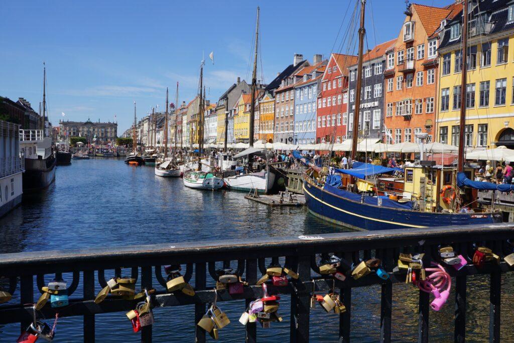 Nyhaven Harbor in Copenhagen.