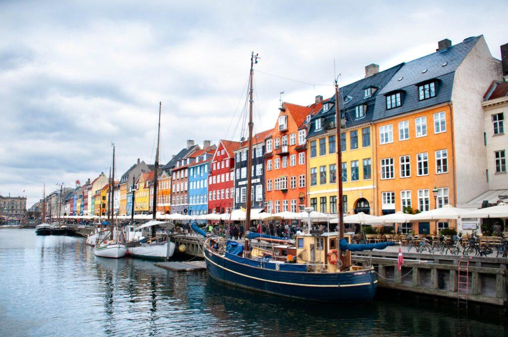 Nyhavn Harbour in Copenhagen.