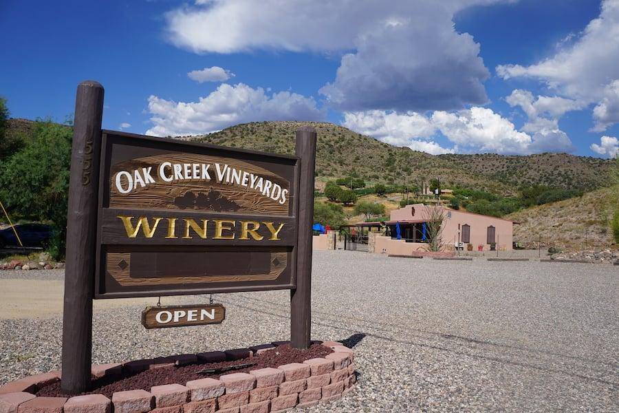 Oak Creek Vineyards Winery in Cottonwood, Arizona.
